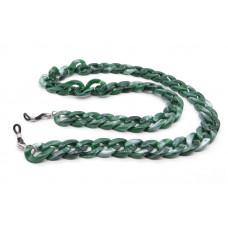 N2 зелёная бижутерия-цепочка для очков