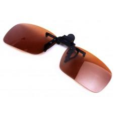 Клип солнцезащитный коричневый
