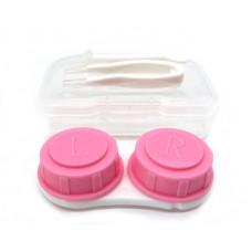 Набор для контактных линз малый розовый