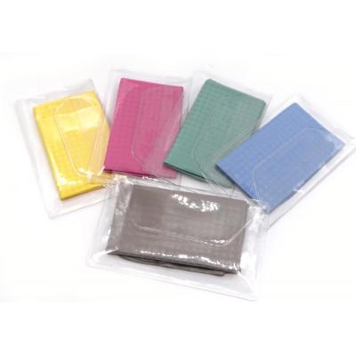N1 салфетка однотонная  для очков в индивидуальной упаковке