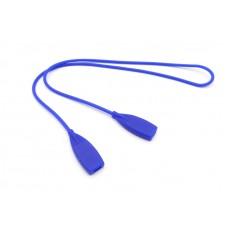 Шнурок для очков силиконовый взрослый синий