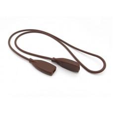Шнурок для очков силиконовый взрослый коричневый