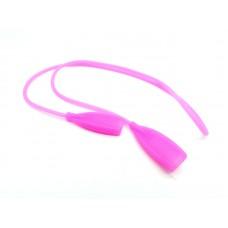 Шнурок для очков силиконовый взрослый розовый