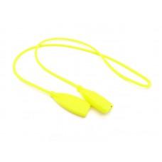 Шнурок для очков силиконовый взрослый жёлтый