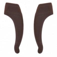 Стопперы силиконовые 1 пара большие коричневые