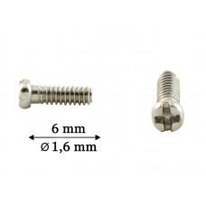 1042_6,0 Винт серебро для пластикового заушника