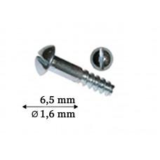 1041_6,5 Винт серебро для пластикового заушника